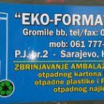 EKO FORMA d.o.o. Bugojno P.J. br. 2 Sarajevo, Halilovići